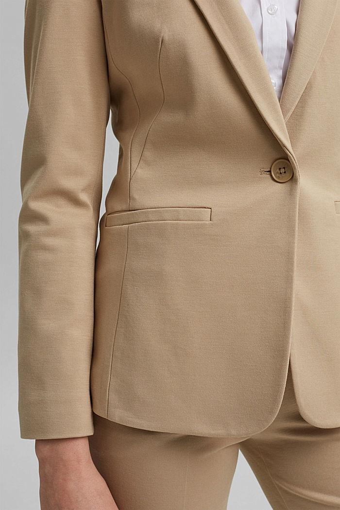 SOFT PUNTO Mix + Match jersey blazer, SAND, detail image number 2