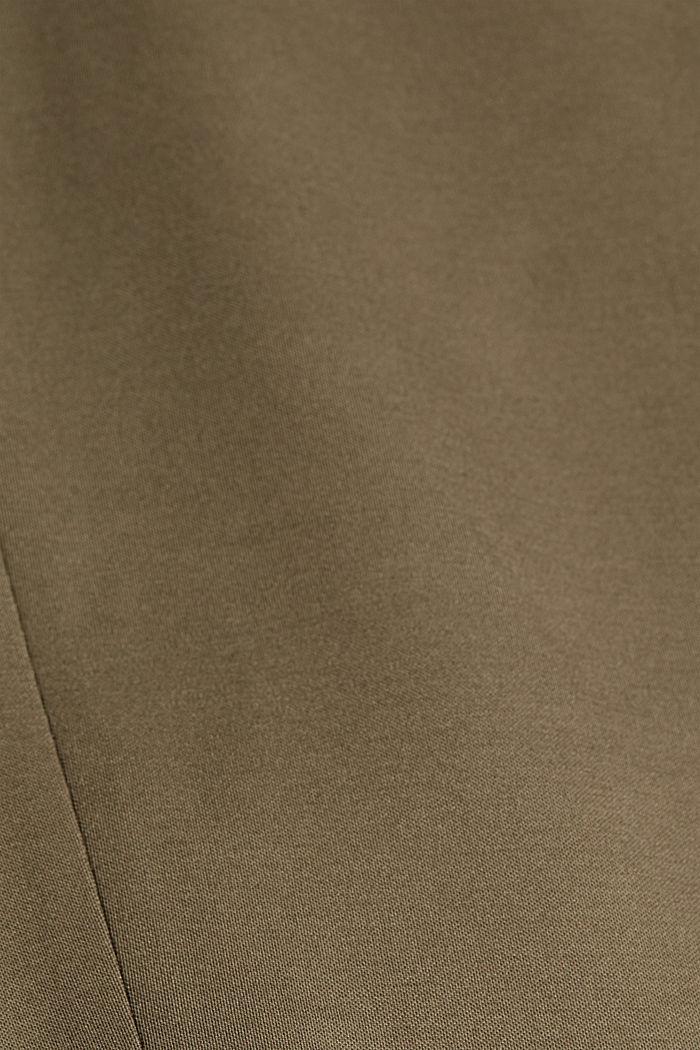 SOFT PUNTO Blazer de jersey Mix + Match, DARK KHAKI, detail image number 4