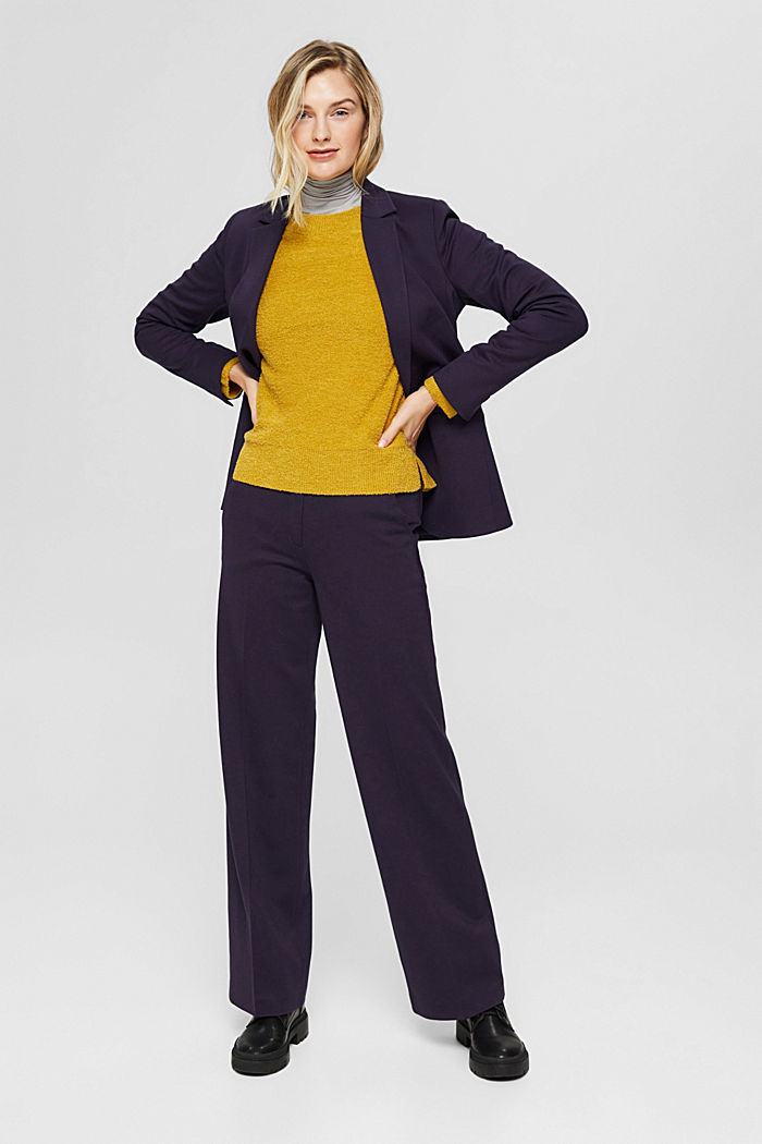 SOFT PUNTO Mix + Match jersey blazer, NAVY, detail image number 8