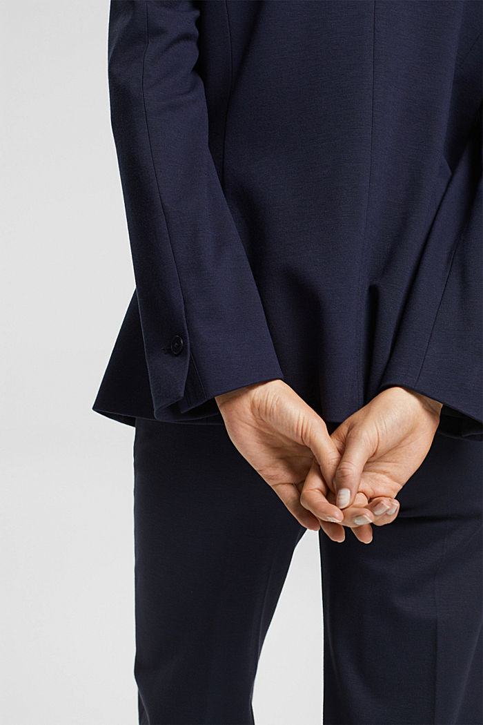 SOFT PUNTO Mix + Match jersey blazer, NAVY, detail image number 2