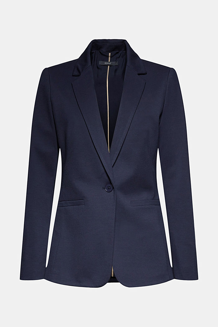 SOFT PUNTO Mix + Match Jersey-Blazer, NAVY, detail image number 9