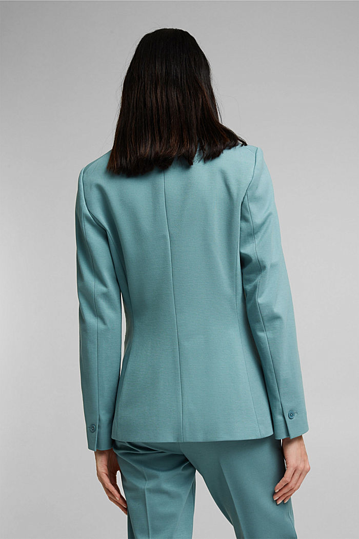SOFT PUNTO Mix + Match Jersey-Blazer, DARK TURQUOISE, detail image number 3