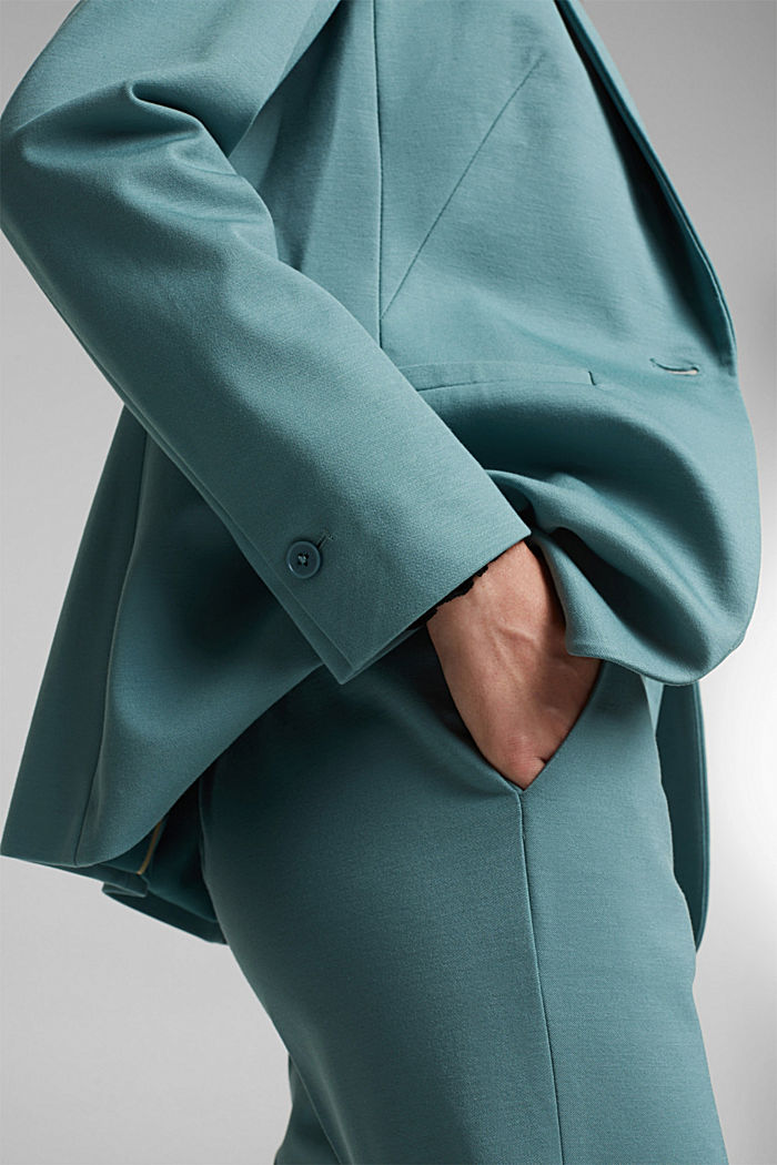 SOFT PUNTO Mix + Match Jersey-Blazer, DARK TURQUOISE, detail image number 2