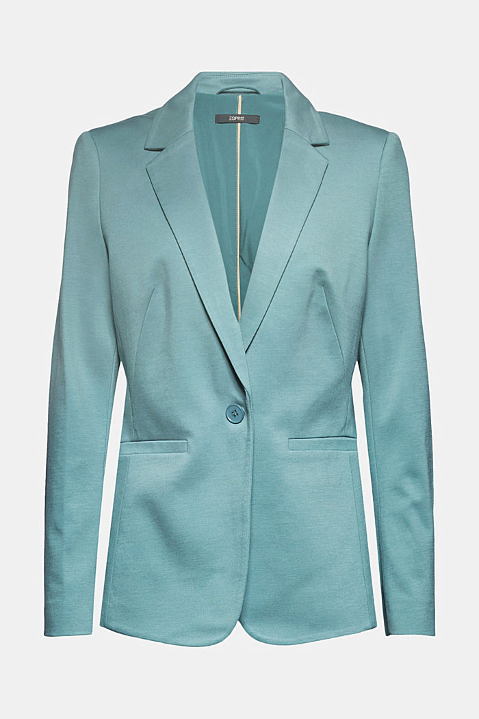 SOFT PUNTO Mix + Match Jersey-Blazer, DARK TURQUOISE, detail image number 6