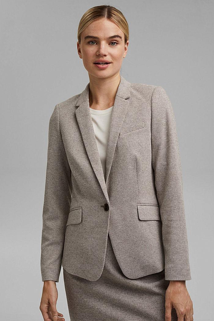 SOFT mix + match blazer, CARAMEL, detail image number 0