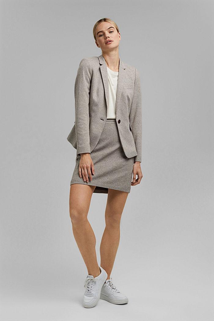 SOFT mix + match blazer, CARAMEL, detail image number 1