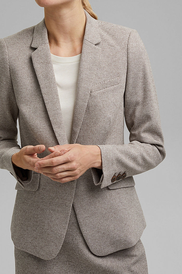 SOFT mix + match blazer, CARAMEL, detail image number 2