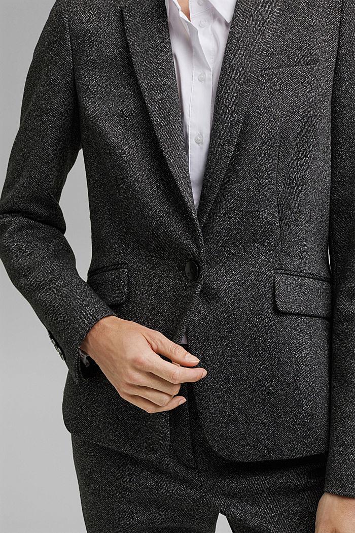 Blazer Mix + Match SPINA DI PESCE, BLACK, detail image number 2