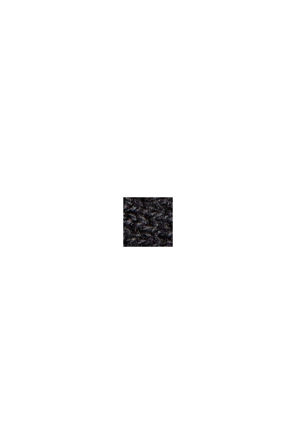 Cardigan sciancrato con zip e balza, BLACK, swatch