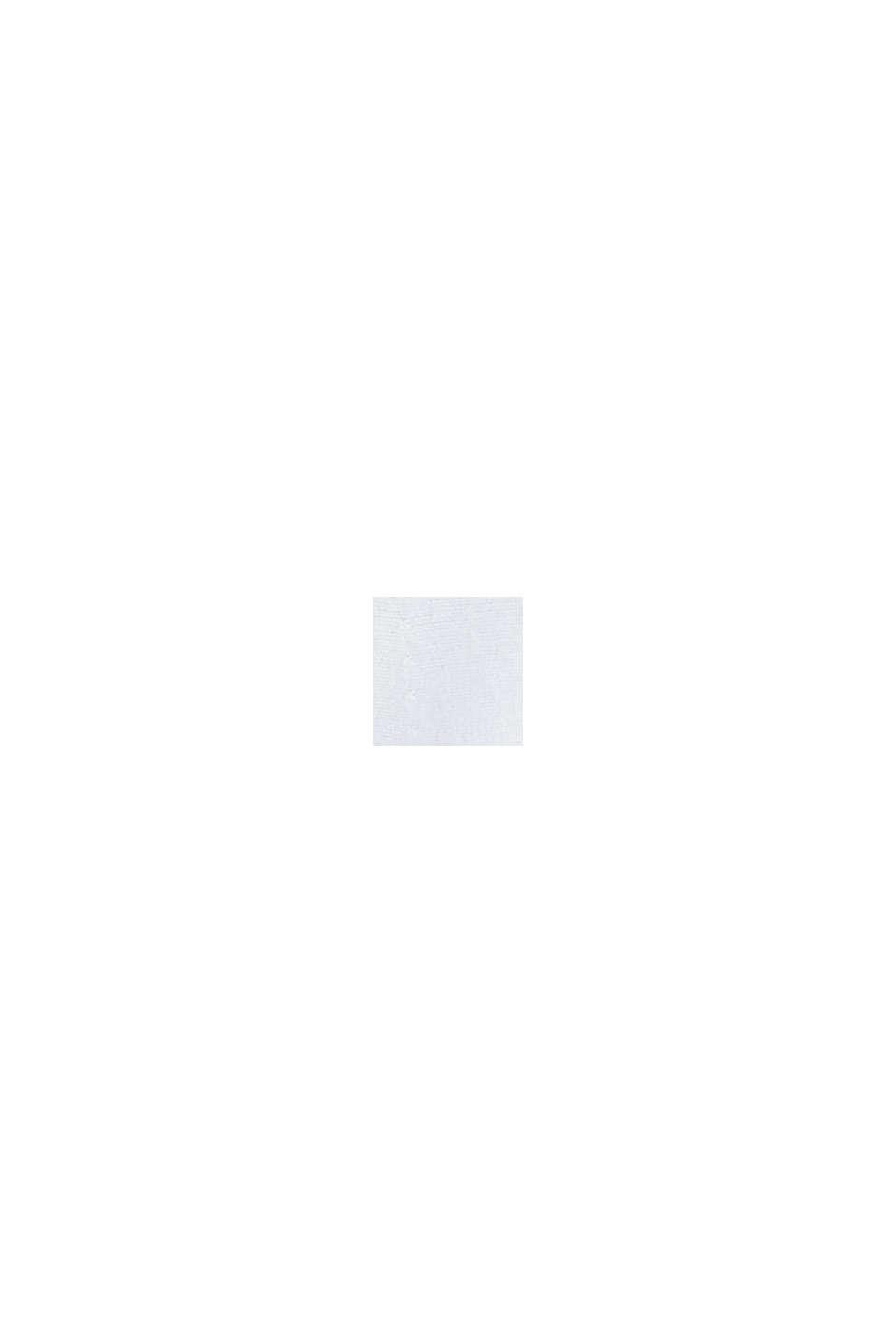 Cardigan sciancrato con zip e balza, OFF WHITE, swatch