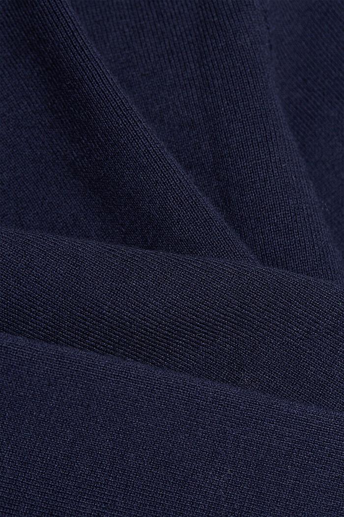 Cardigan zippé cintré à basque, NAVY, detail image number 4