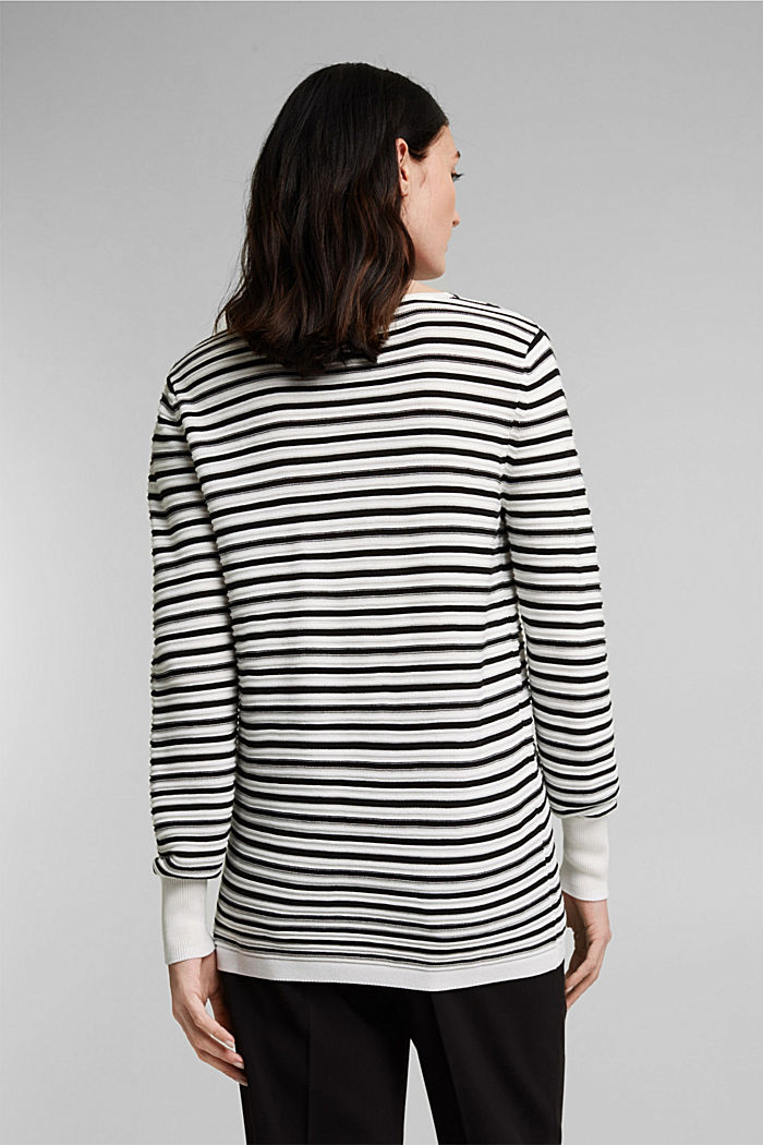 Mit Lyocell TENCEL™: Ripp-Pullover, OFF WHITE, detail image number 3