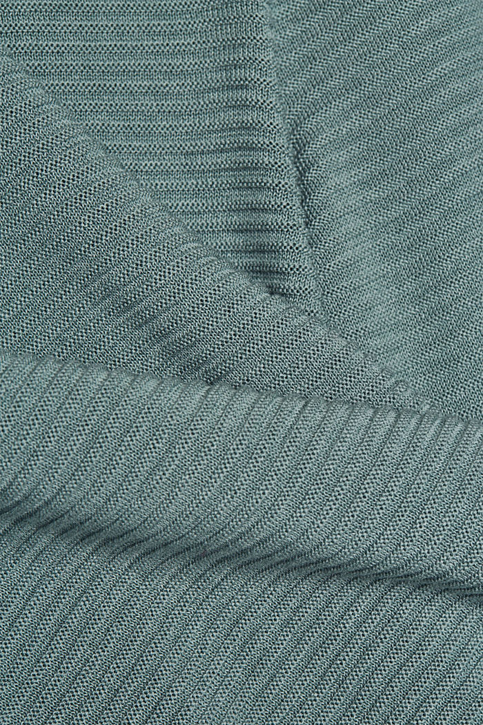 With lyocell TENCEL™: Ribbed jumper, DARK TURQUOISE, detail image number 4