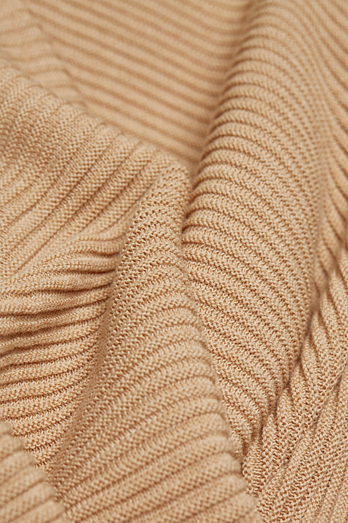 Met lyocell TENCEL™: geribd vest, SAND, detail image number 4