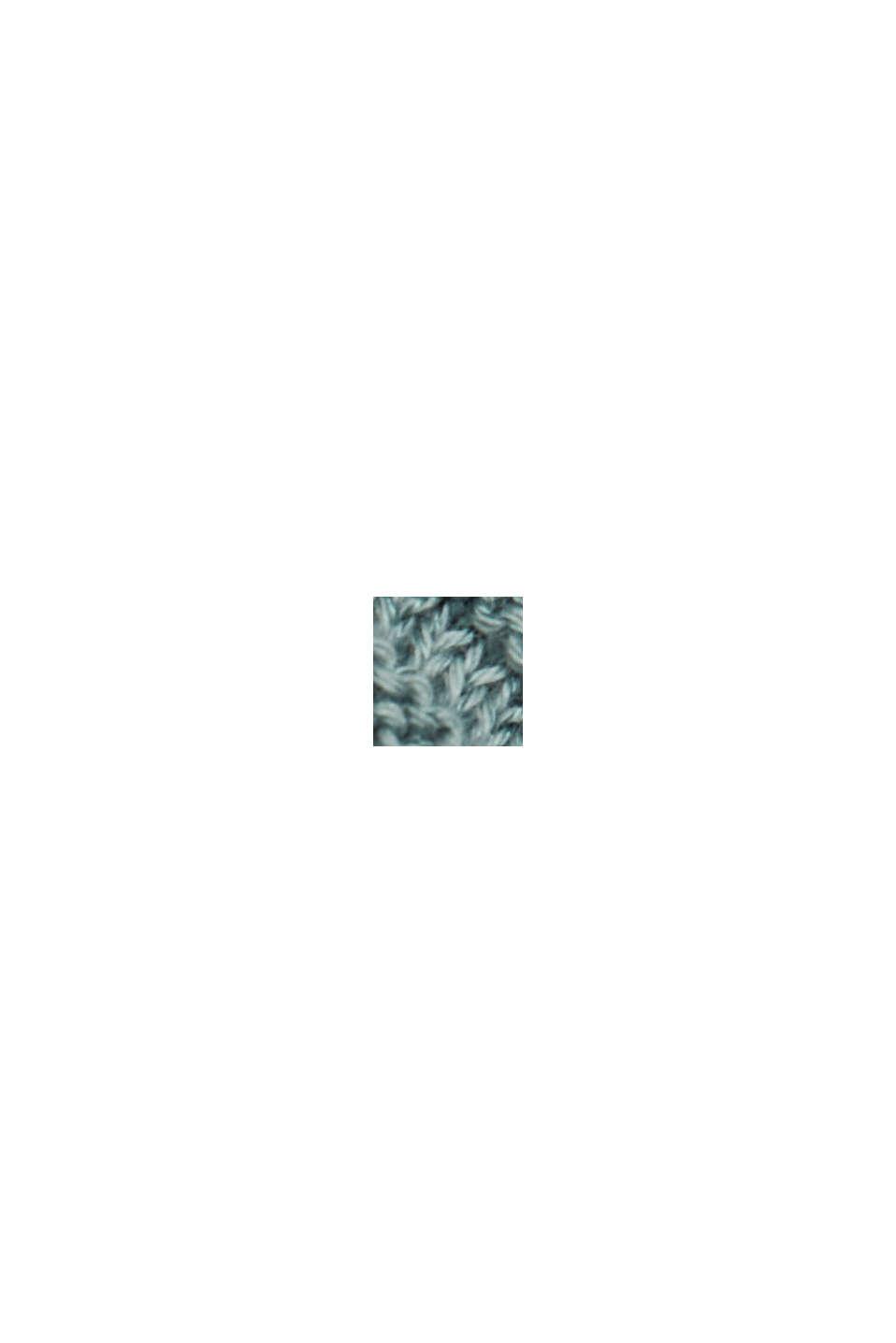 Z Lyocellem TENCELEM™: prążkowany kardigan, DARK TURQUOISE, swatch