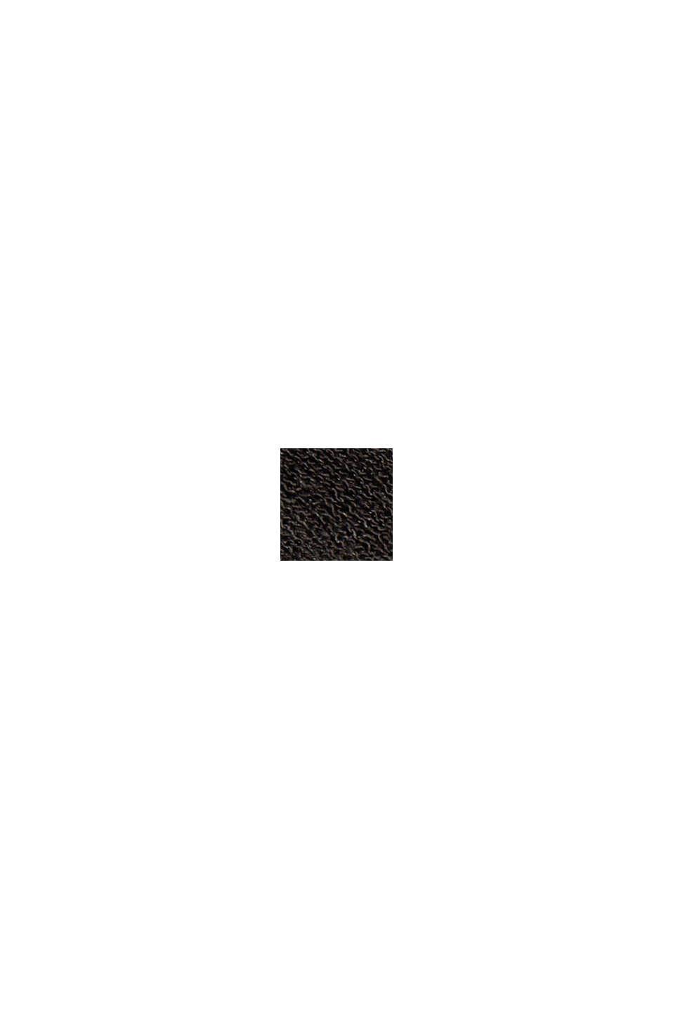 À teneur en lin: le pull-over à manches courtes, BLACK, swatch