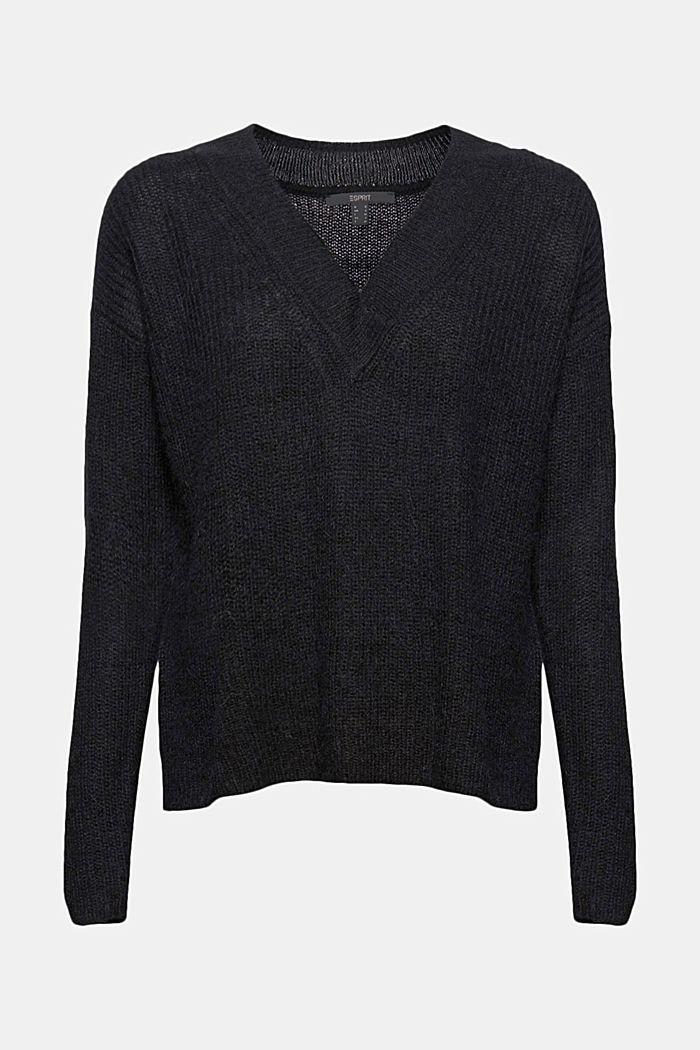 Mit Alpaka: Pullover mit V-Ausschnitt