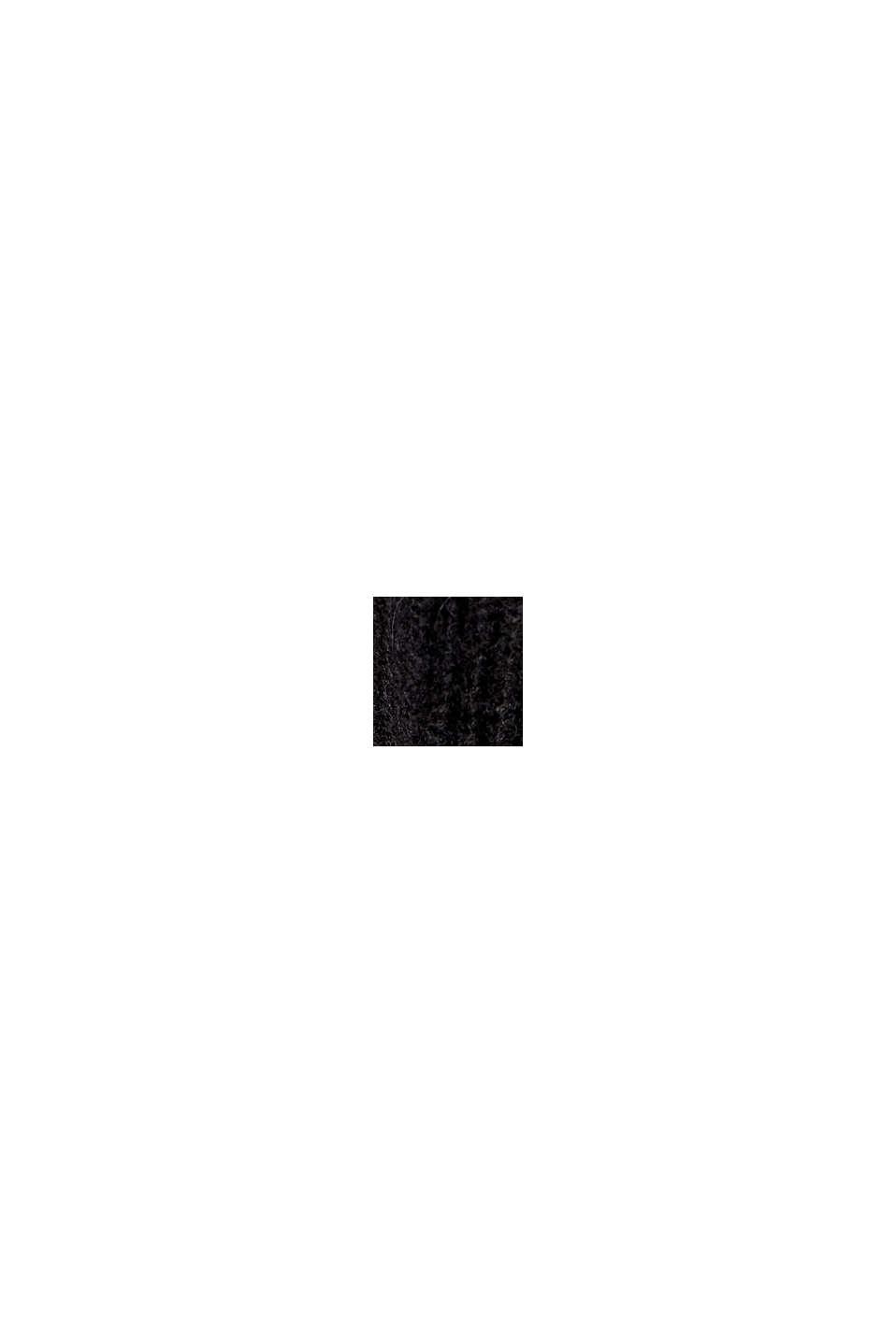 Mit Alpaka: Pullover mit V-Ausschnitt, BLACK, swatch