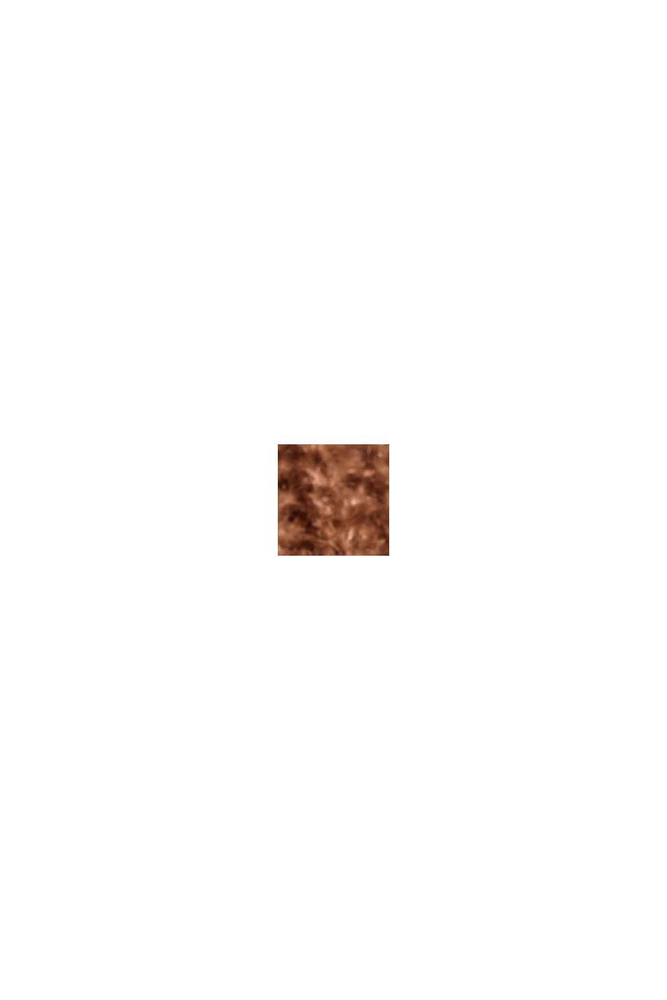 Mit Alpaka: Pullover mit V-Ausschnitt, CARAMEL, swatch