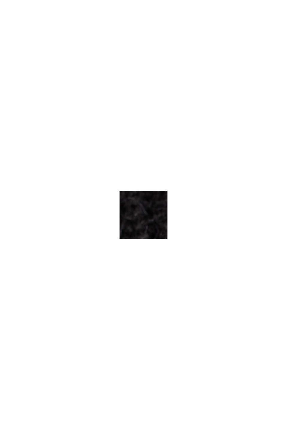 Mit Wolle/Alpaka: Cardigan aus Rippstrick, BLACK, swatch