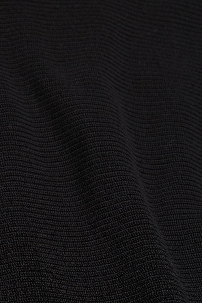 Pull-over à encolure bateau, en coton biologique TENCEL™, BLACK, detail image number 4