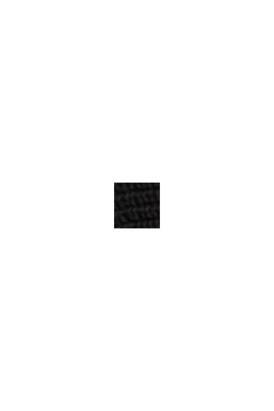 Sweter z łódkowym dekoltem, z bawełny organicznej/TENCELU™, BLACK, swatch