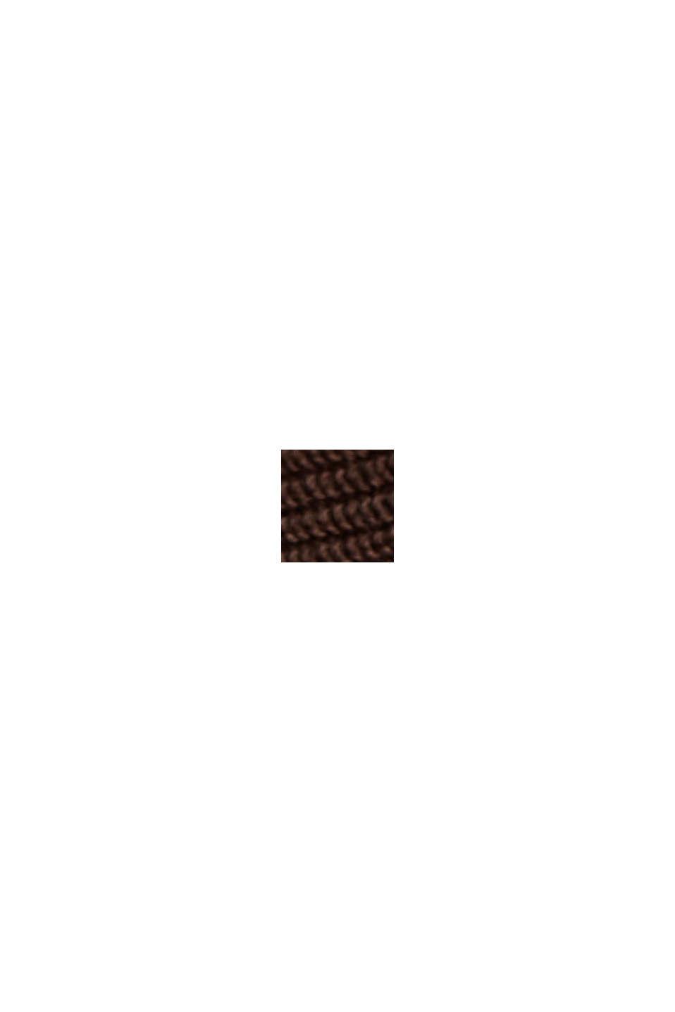 Sweter z łódkowym dekoltem, z bawełny organicznej/TENCELU™, DARK BROWN, swatch