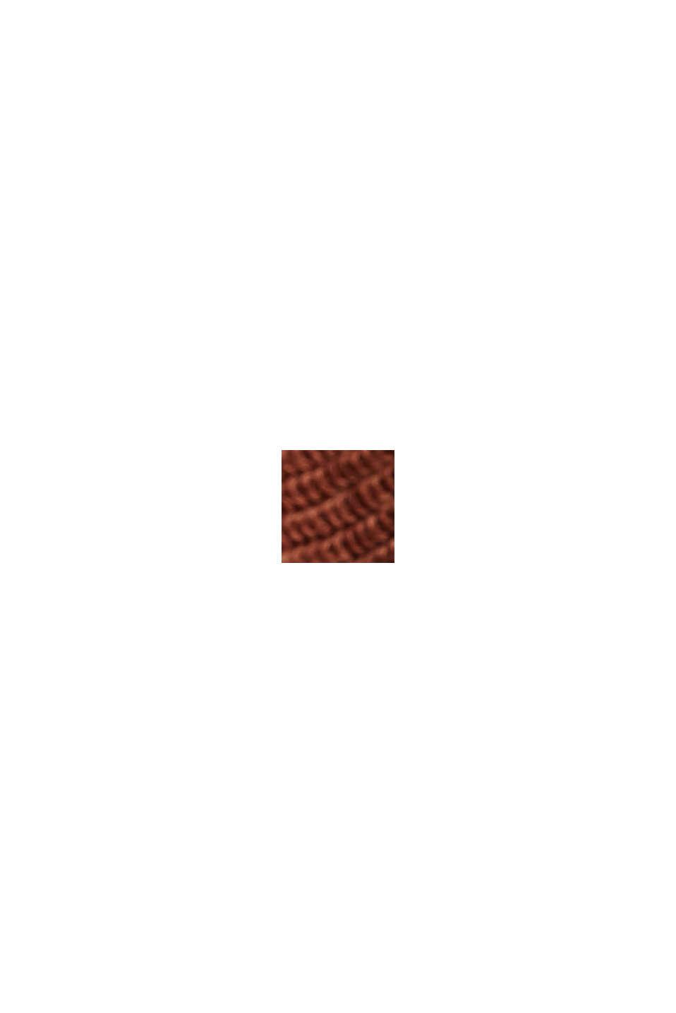 Sweter z łódkowym dekoltem, z bawełny organicznej/TENCELU™, TOFFEE, swatch