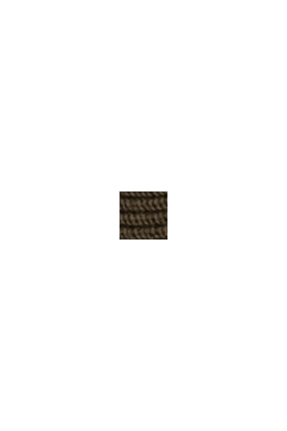 Sweter z łódkowym dekoltem, z bawełny organicznej/TENCELU™, DARK KHAKI, swatch