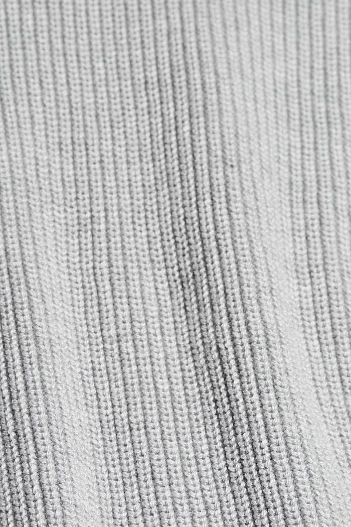 Van biologisch katoen/TENCEL™: open vest, LIGHT GREY, detail image number 4