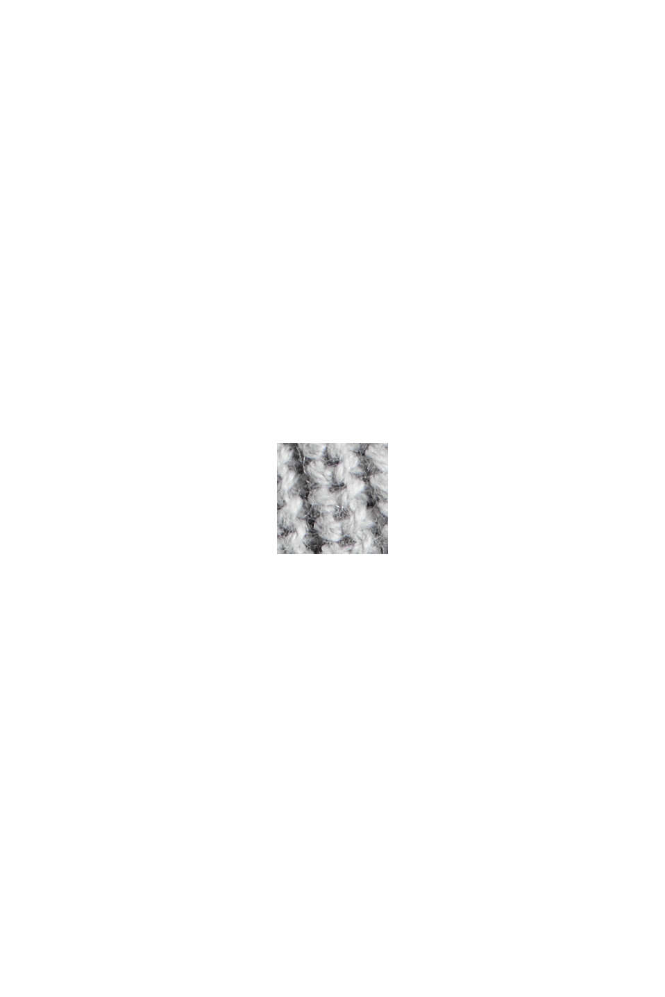 Z bawełny ekologicznej/włókna TENCEL™: kardigan bez zapięcia, LIGHT GREY, swatch