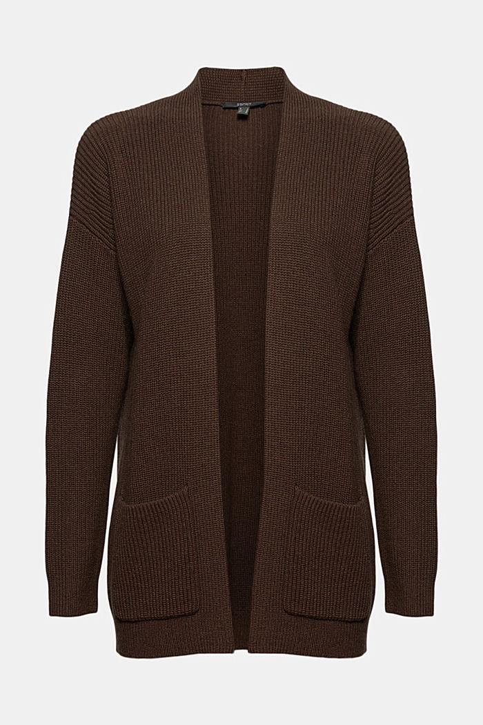 Z bawełny ekologicznej/włókna TENCEL™: kardigan bez zapięcia