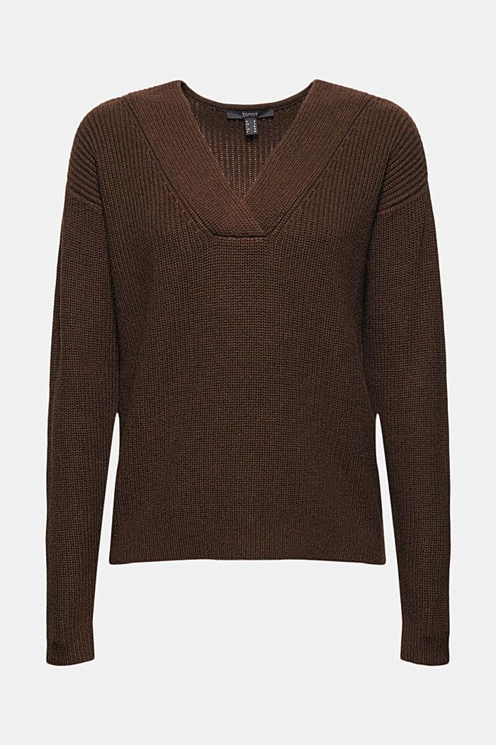 Z wełną/kaszmirem: sweter z bawełny ekologicznej
