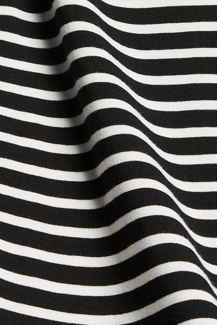 Van TENCEL™/modal: gestreept shirt, BLACK, detail image number 4
