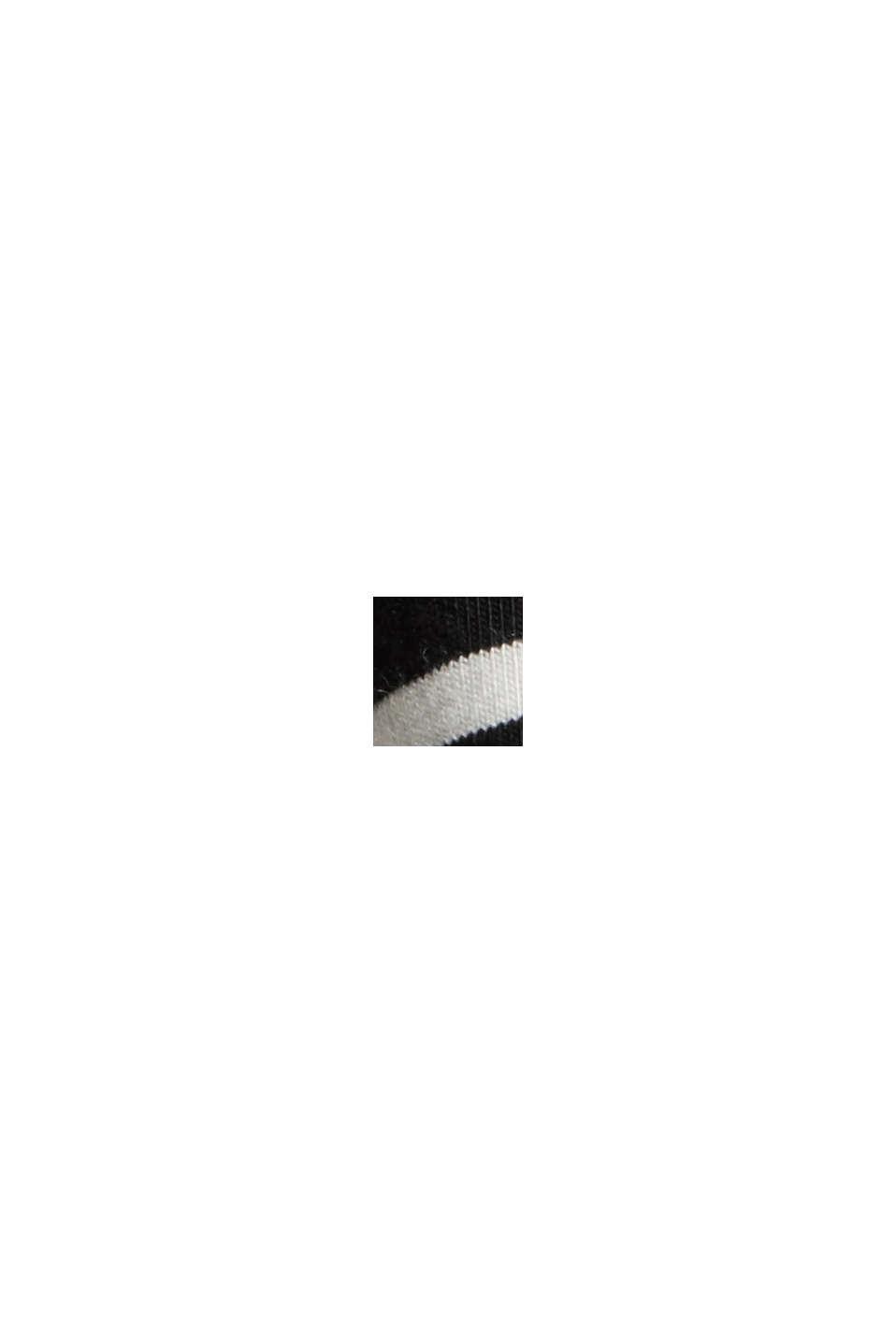 En mélange de TENCEL™/Modal: t-shirt à rayures, BLACK, swatch