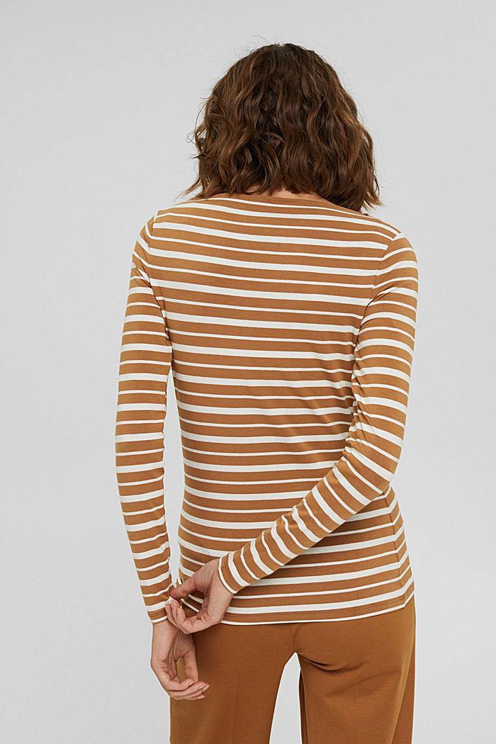 In TENCEL™ e misto modal: maglia a righe, CARAMEL, detail image number 3