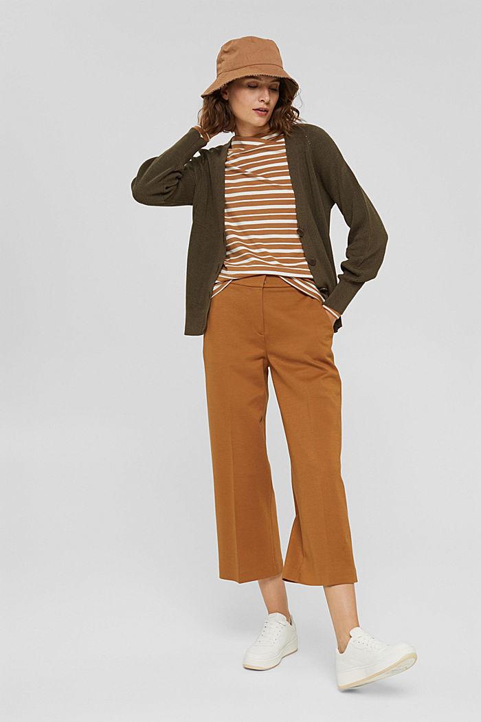 In TENCEL™ e misto modal: maglia a righe, CARAMEL, detail image number 1