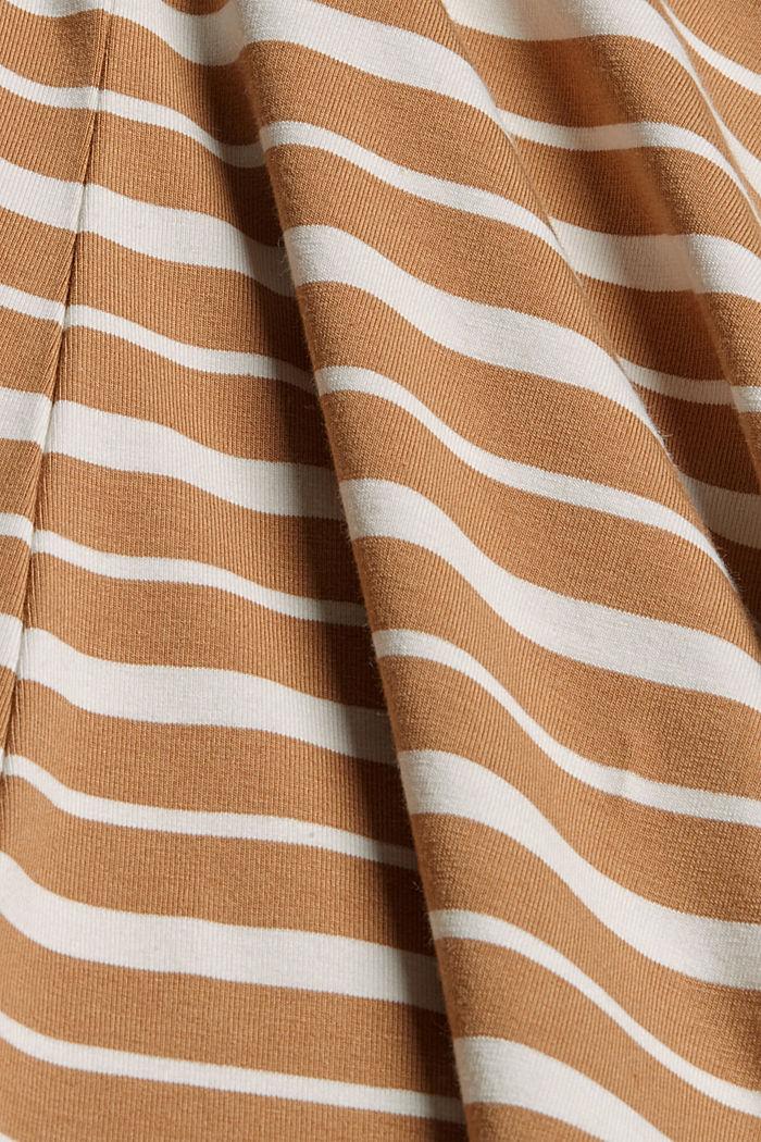 In TENCEL™ e misto modal: maglia a righe, CARAMEL, detail image number 4