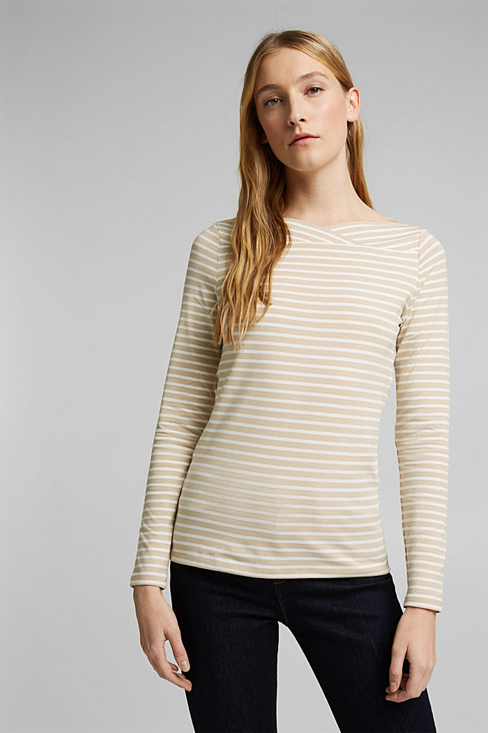 In a TENCEL™/ modal blend: Striped shirt, SAND, detail image number 0