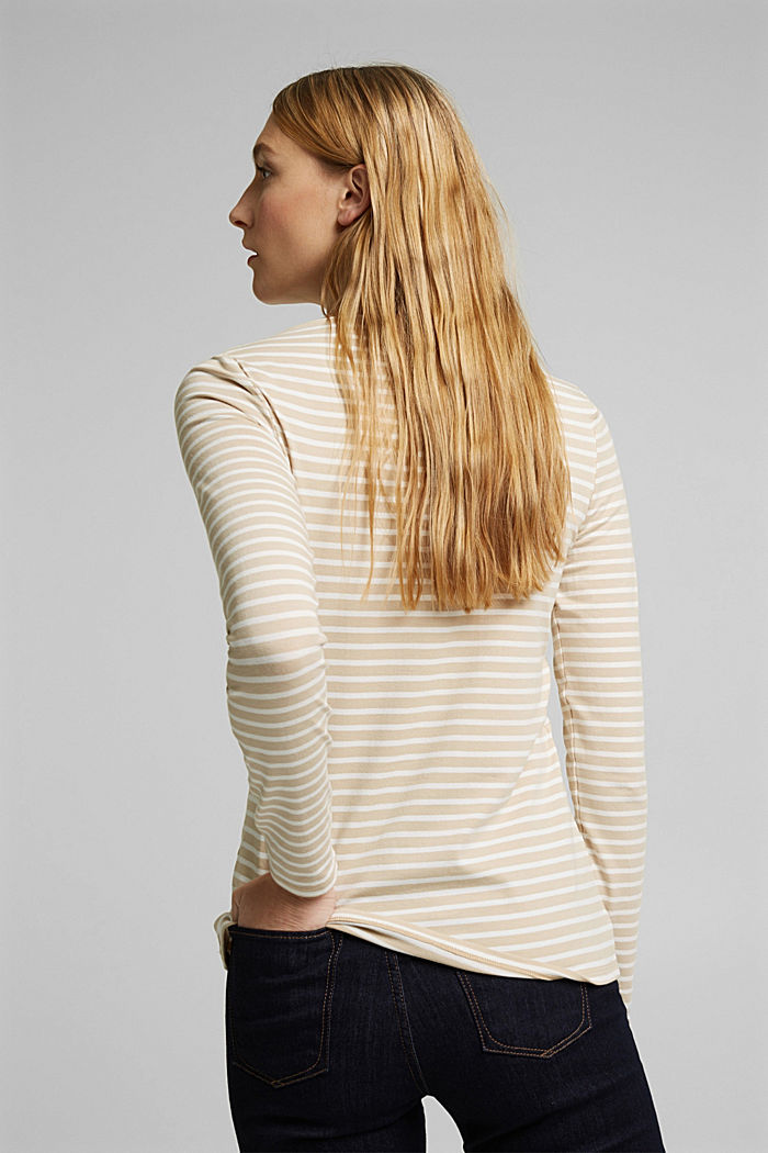 In a TENCEL™/ modal blend: Striped shirt, SAND, detail image number 3