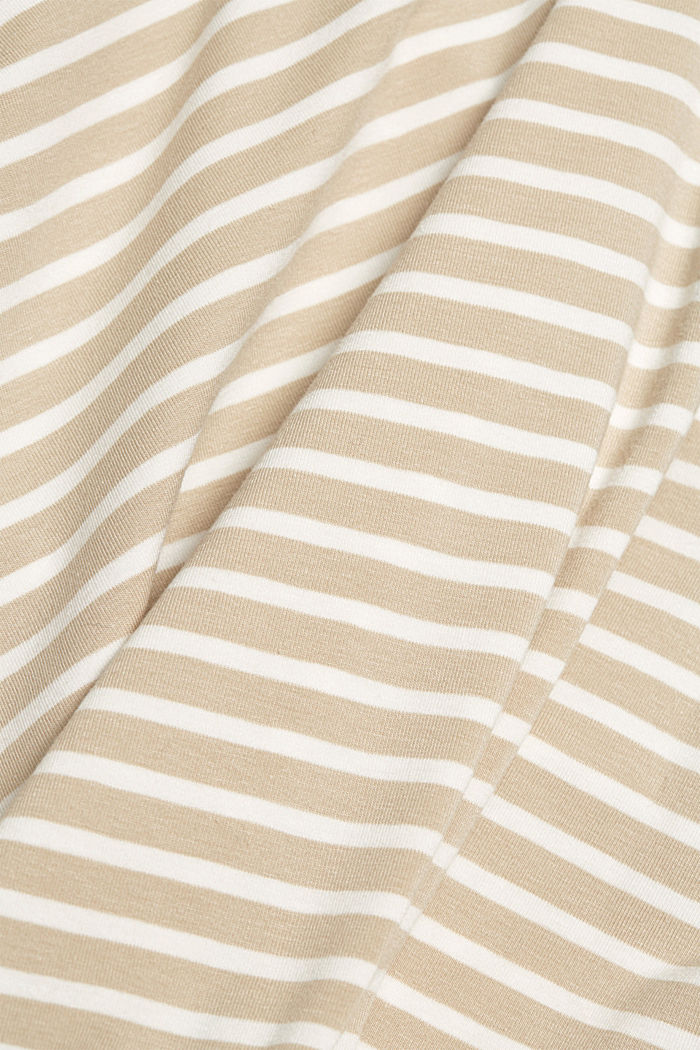 In a TENCEL™/ modal blend: Striped shirt, SAND, detail image number 4