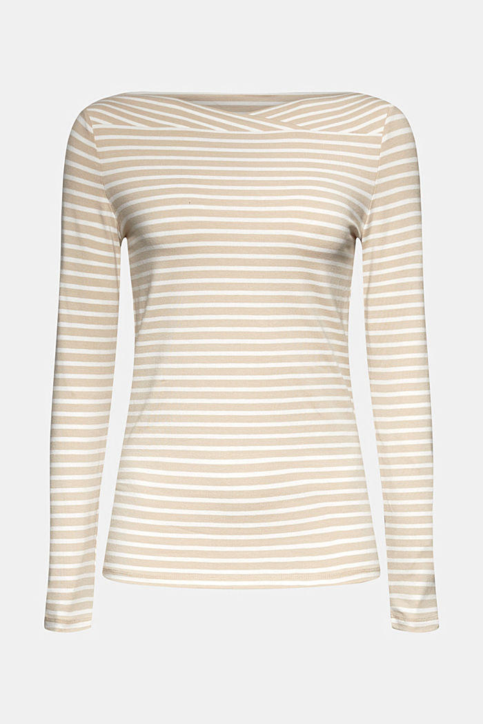 In a TENCEL™/ modal blend: Striped shirt, SAND, detail image number 6
