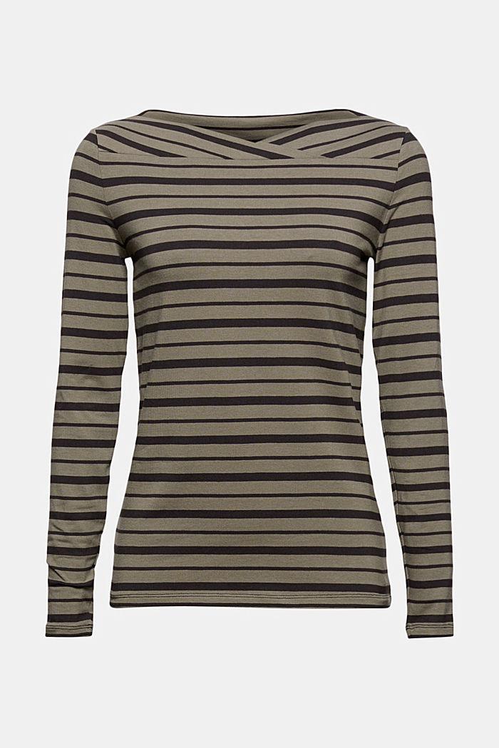 En mélange de TENCEL™/Modal: t-shirt à rayures