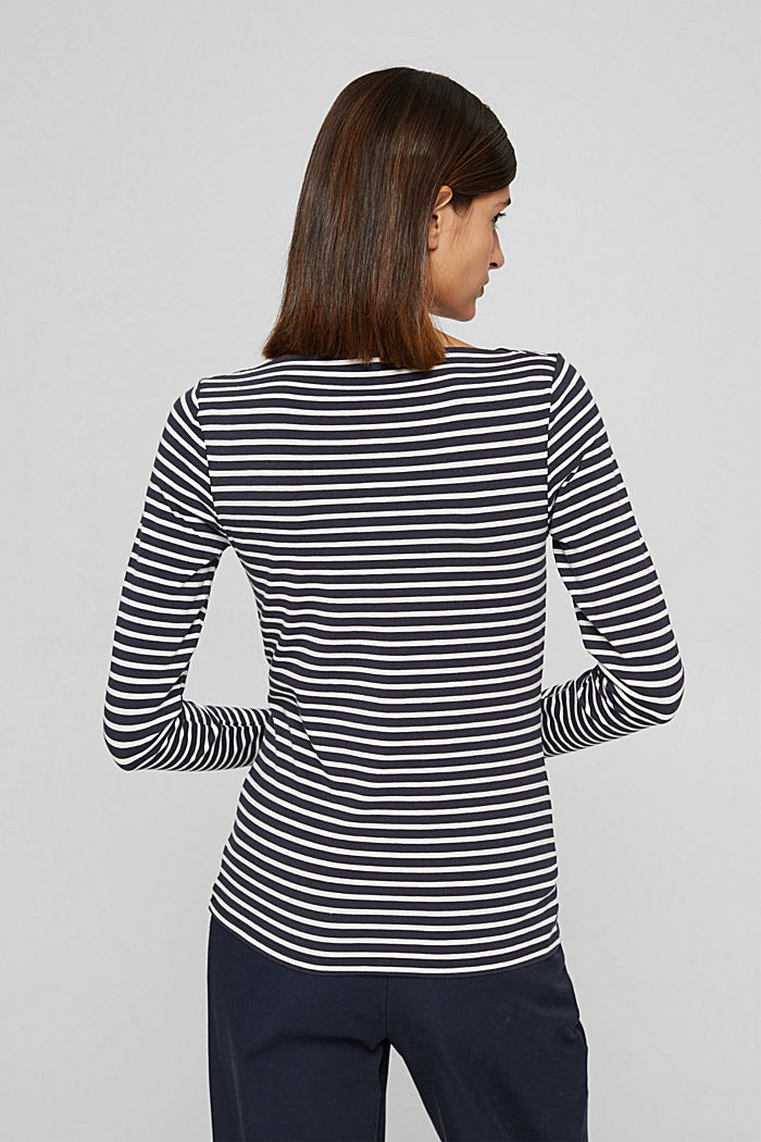 In a TENCEL™/ modal blend: Striped shirt, NAVY, detail image number 3