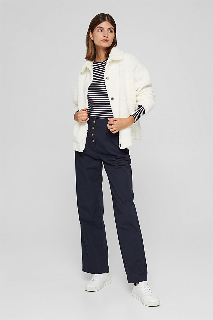 In a TENCEL™/ modal blend: Striped shirt, NAVY, detail image number 1