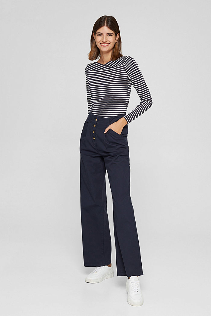 In a TENCEL™/ modal blend: Striped shirt, NAVY, detail image number 7