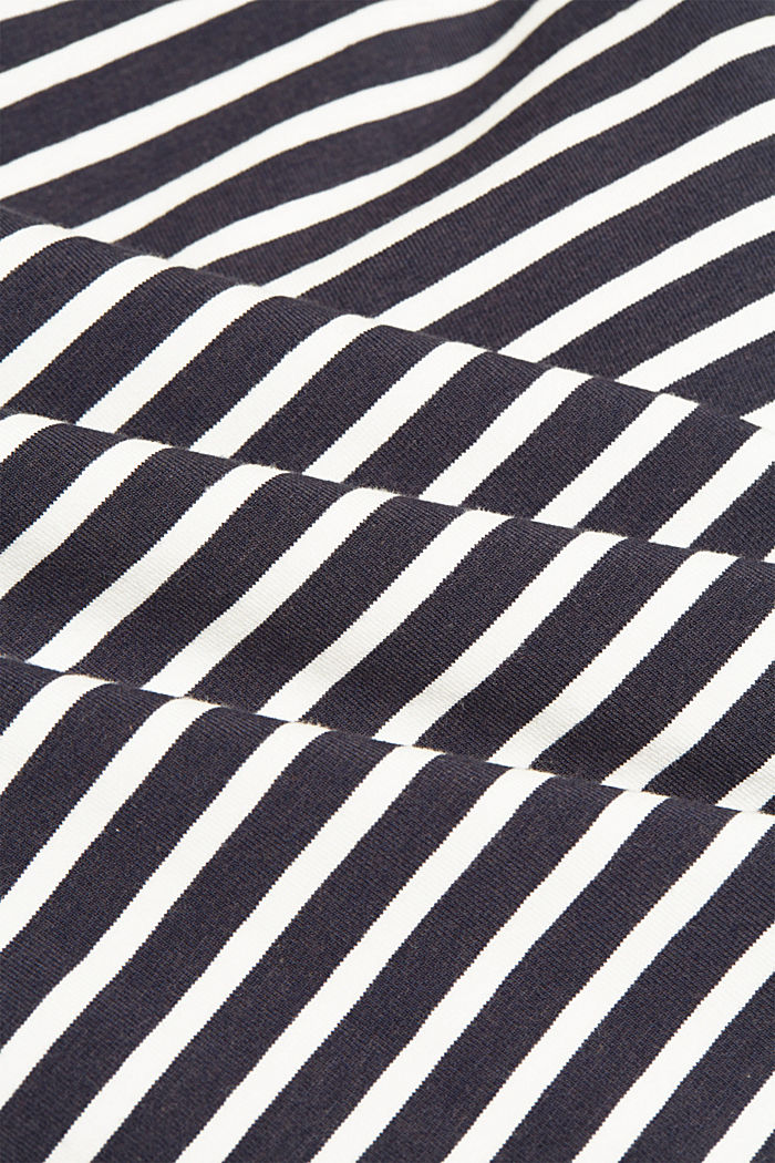 In a TENCEL™/ modal blend: Striped shirt, NAVY, detail image number 4