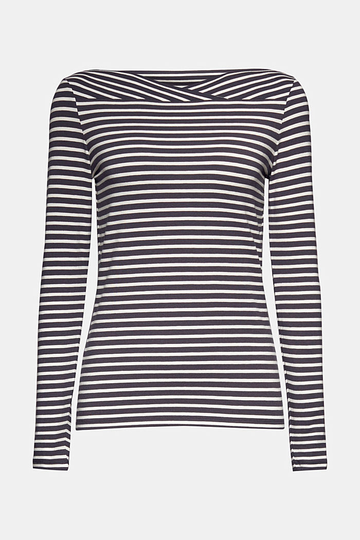 In a TENCEL™/ modal blend: Striped shirt, NAVY, detail image number 8