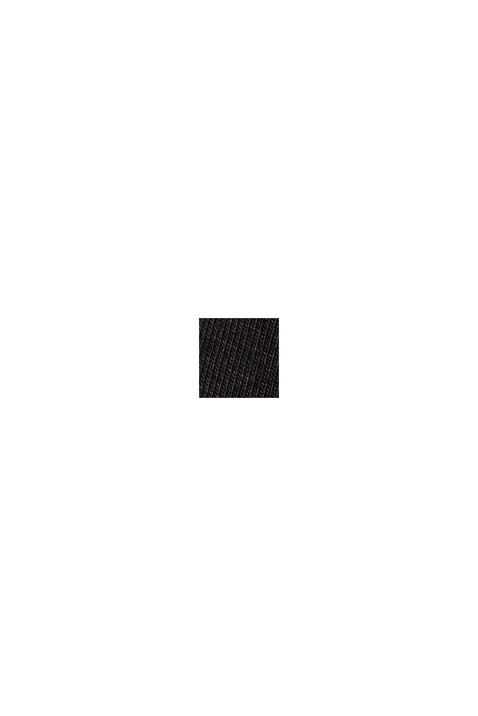 T-Shirt mit Lyocell und Chiffon-Details, BLACK, swatch