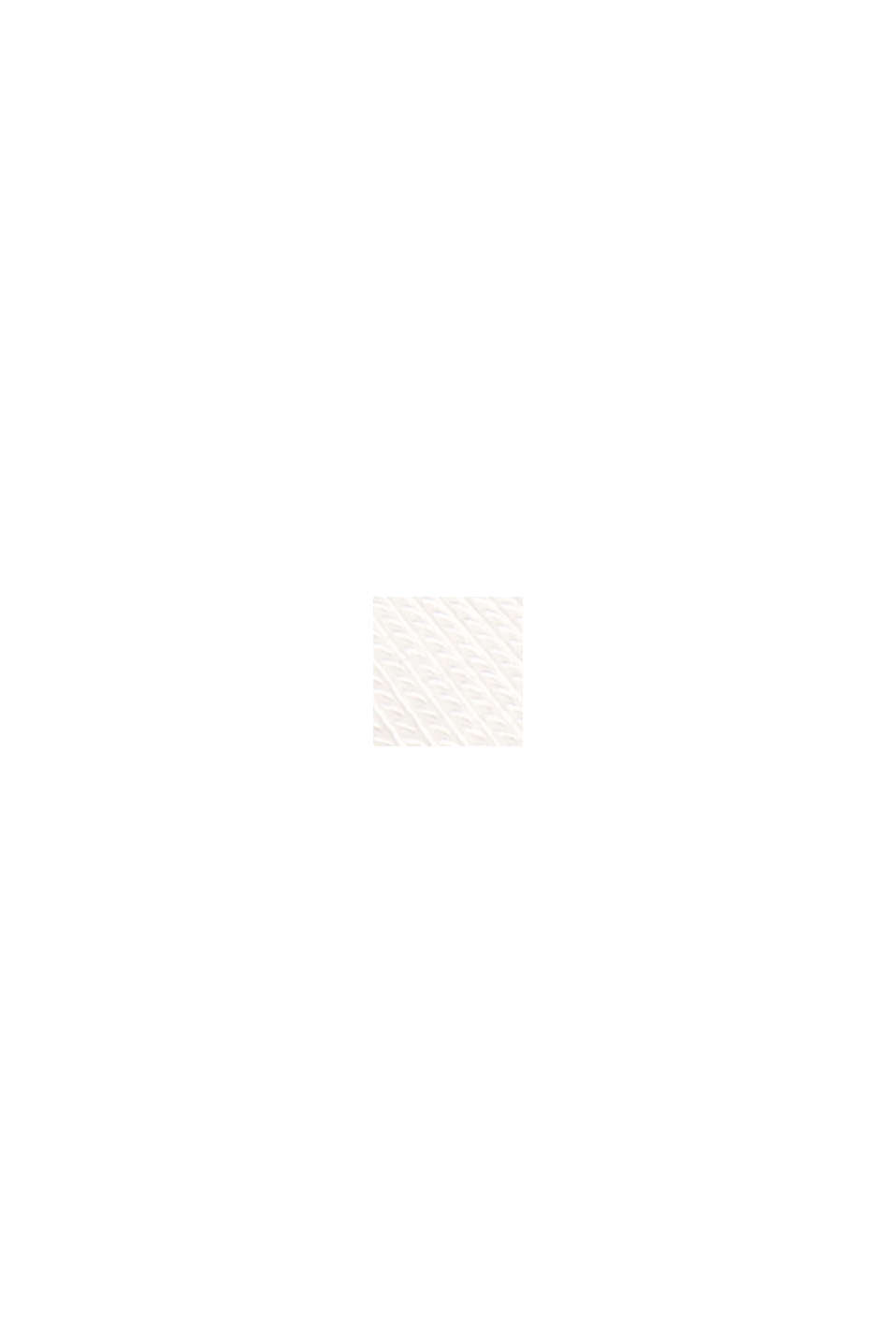 T-Shirt mit Lyocell und Chiffon-Details, OFF WHITE, swatch